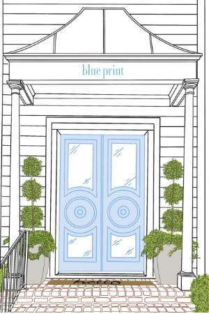 Blue Print Store Illustration