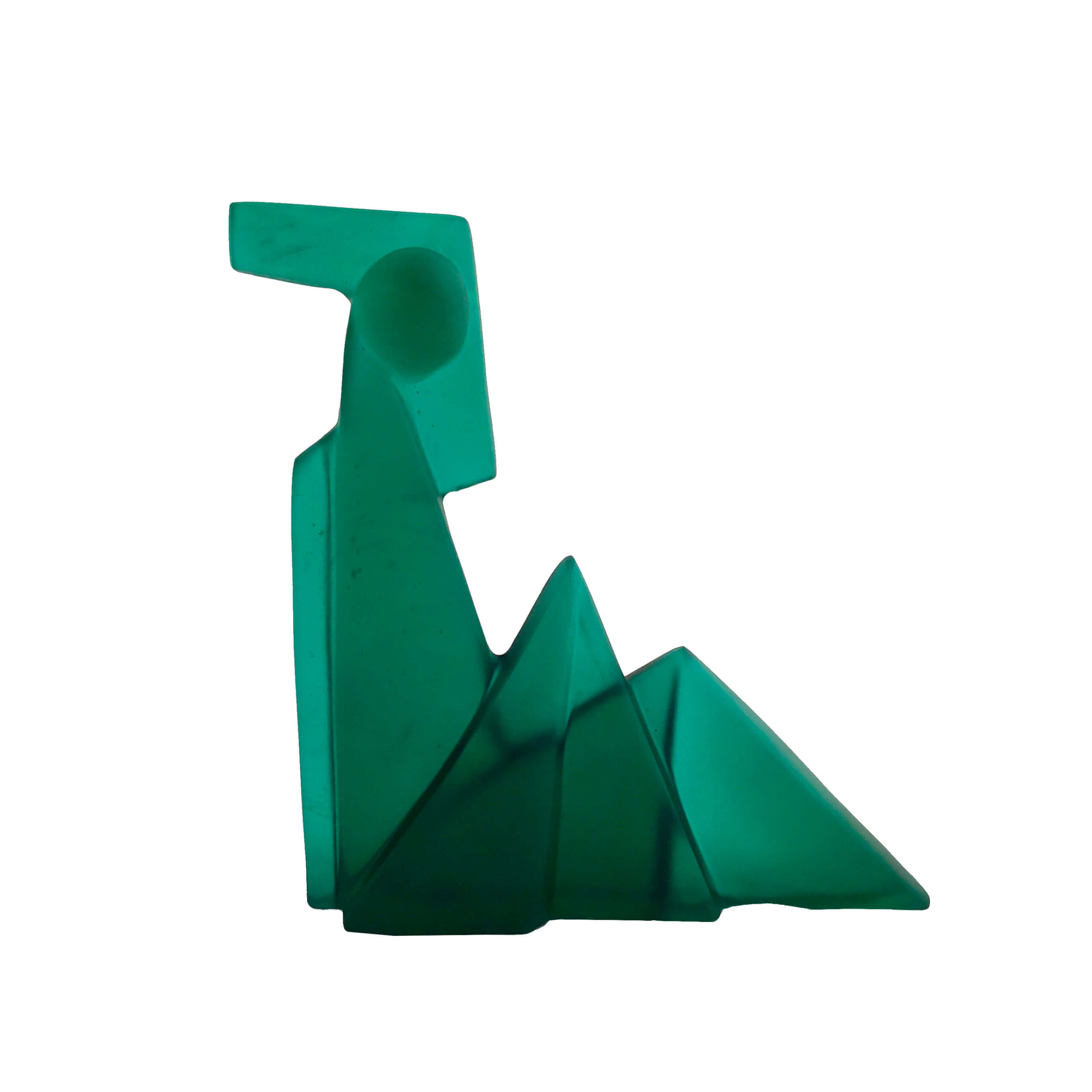 Image of Green Seated Figure #2